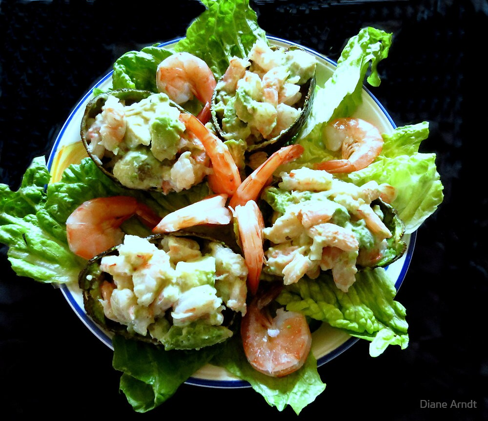 Shrimp Stuffed Avocado Salad by Diane Arndt