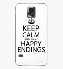 Keep calm and have happy endings Hülle & Klebefolie für Samsung Galaxy