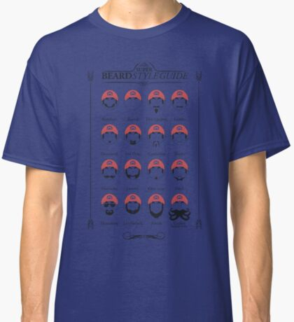 Super Mario - Beard Style Guide Classic T-Shirt
