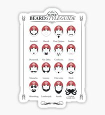Super Mario - Beard Style Guide Sticker