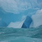 At the waterline -- iceberg detail by Jean Knowles