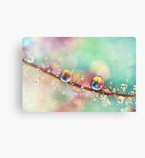 Rainbow Smoke Drops Canvas Print