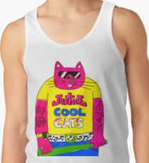Cool Cats - Yellow / Justice Cat Tank Top