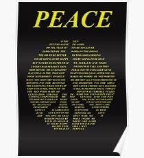 Peace - Happy People Lyrics Poster