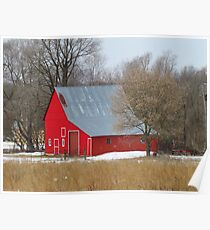 Little Red Barn Poster