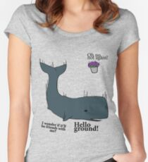 Hello Ground! - Hitchhiker's Guide To The Galaxy Women's Fitted Scoop T-Shirt