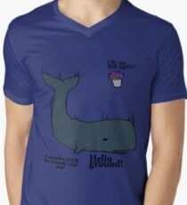 Hello Ground! - Hitchhiker's Guide To The Galaxy Men's V-Neck T-Shirt