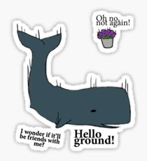 Hello Ground! - Hitchhiker's Guide To The Galaxy Sticker