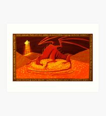 Smaug - My Armour is Like Ten Thousand Shields Art Print