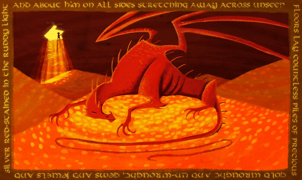 Smaug - My Armour is Like Ten Thousand Shields by RobinF