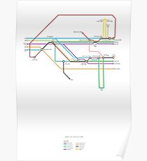 Back To The Future character map Poster