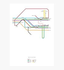 Back To The Future character map Photographic Print