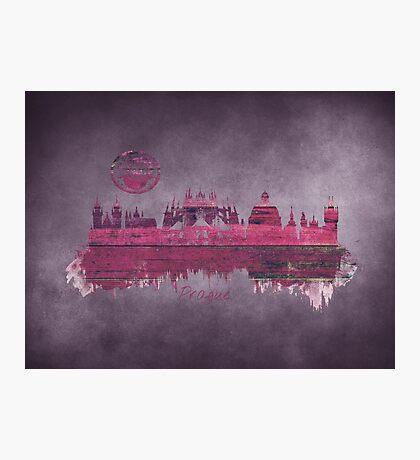 Prague skyline purple Photographic Print