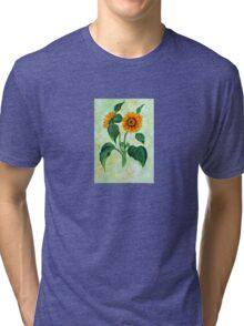 Vintage Sunflowers  Tri-blend T-Shirt