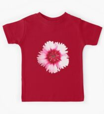 Red & White Flower Print Kids Tee