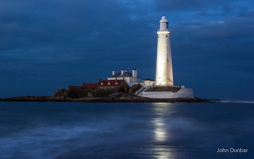 Dusk at St Mary's Lighthouse by John Dunbar