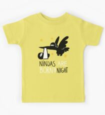 Ninjas are born at night... Kids Tee