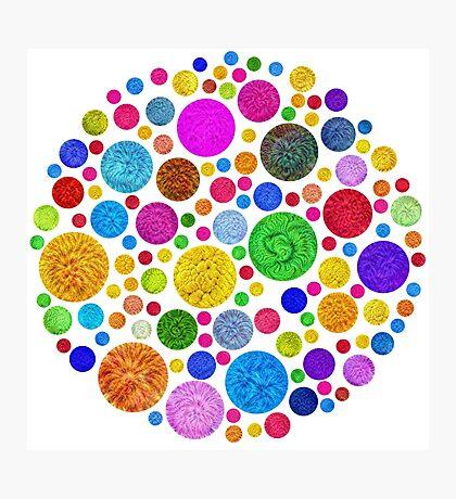 #DeepDream Color Circles Visual Areas 4x4K v1448872458 Photographic Print