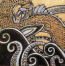 Gold Sea Dragon by Lynnette Shelley