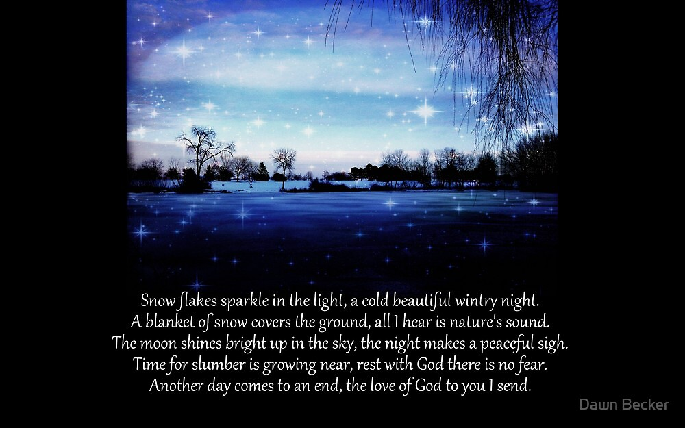 Winter poem © by Dawn Becker