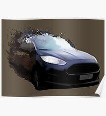 Automotive Splatter Poster
