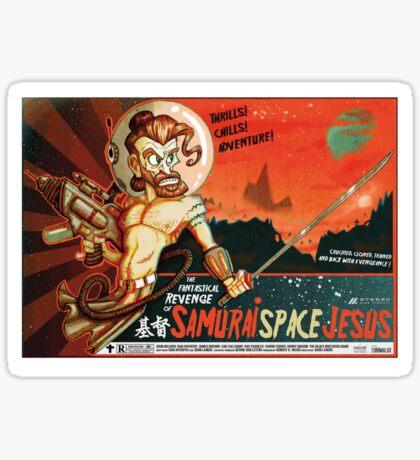 Samurai Space Jesus Sticker