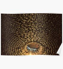 Ceiling of upper dungeon Saumur, Water from courtyard dripping down 19840222 0045 Poster