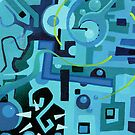 Held Gently in Blue - Abstract Acrylic Canvas Painting - END by jeffjag