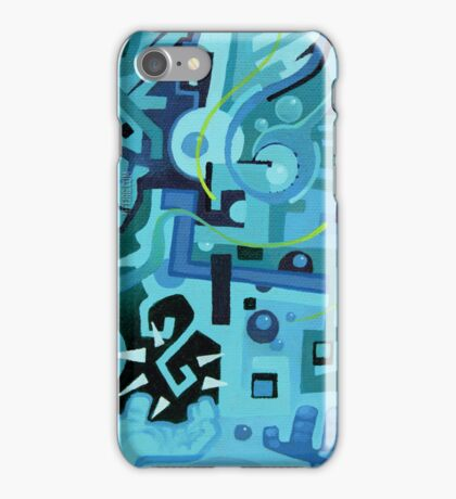 Held Gently in Blue - Abstract Acrylic Canvas Painting - END iPhone Case/Skin