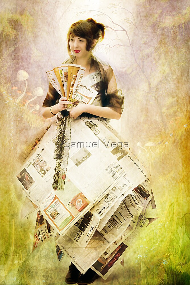 Paper Gown in Wonderland by Samuel Vega