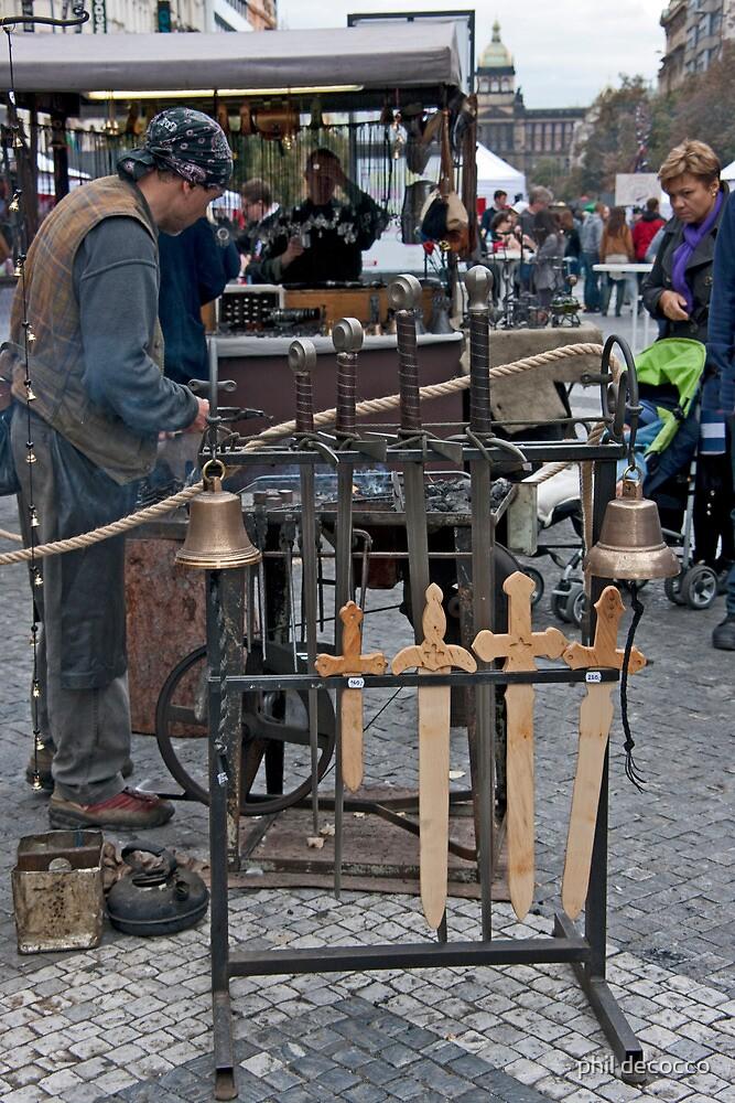 Street Blacksmith by phil decocco