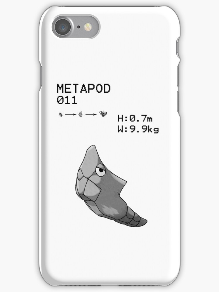 B&W Metapod iPhone / iPod Case by Aaron Campbell