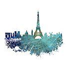 Paris skyline wind rose by JBJart