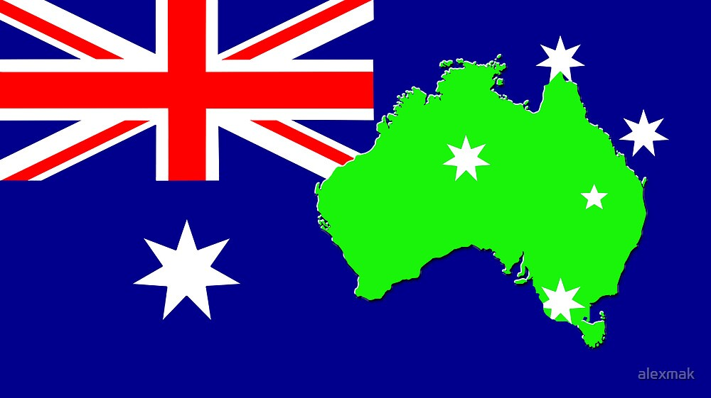 map of Australia on its flag by alexmak