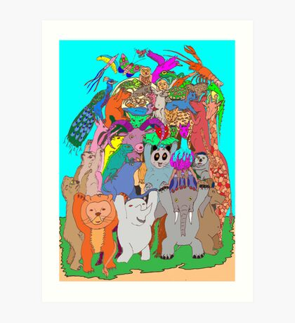 The Fauna Castle Art Print