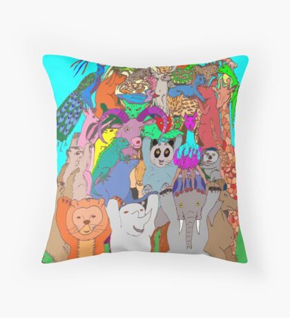 The Fauna Castle Throw Pillow