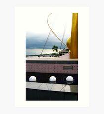 Waterfront Sculpture, Brunei 02 Art Print