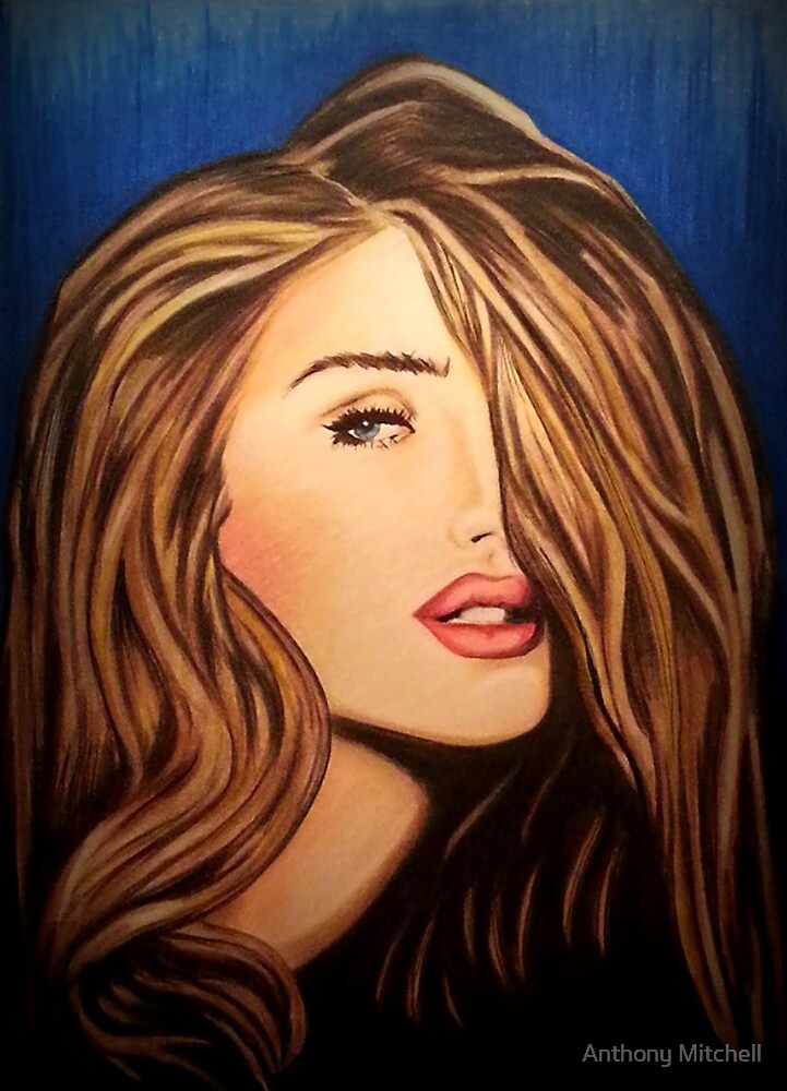Rosie Huntington Whitley  by Anthony Mitchell