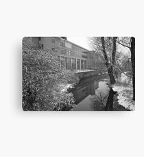 River scene - snowing Canvas Print