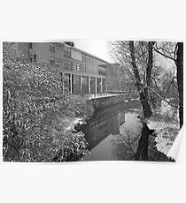 River scene - snowing Poster