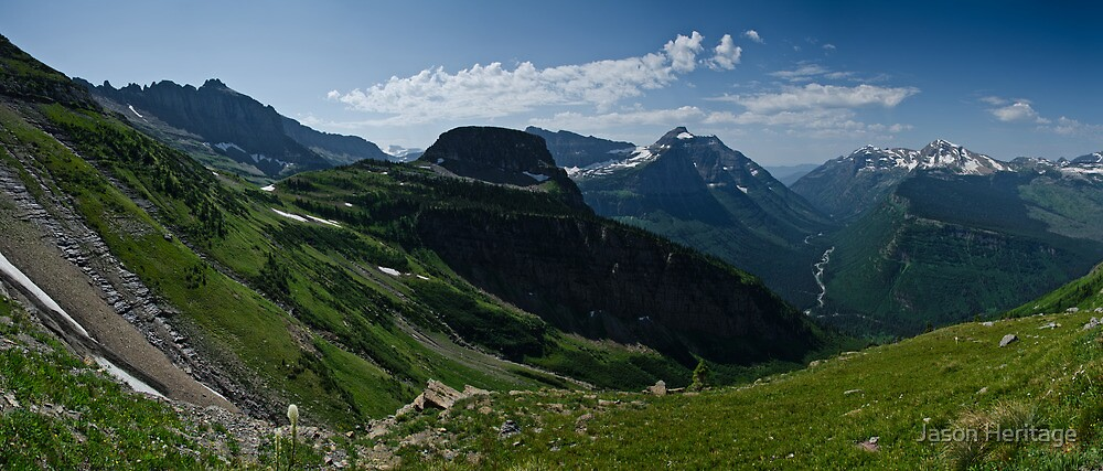 Highline Trail Panorama - Glacier National Park, Montana by Jason Heritage