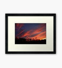 Streaking Across The Sky Framed Print