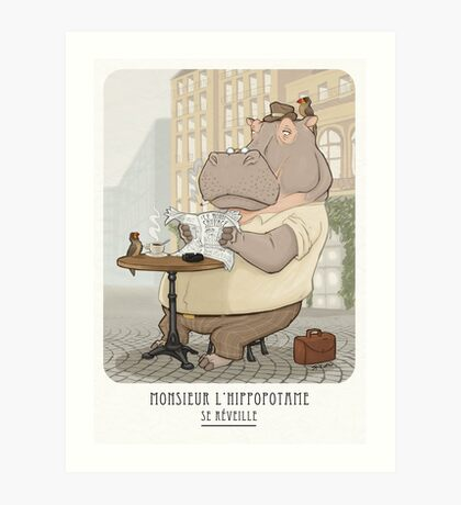 Mr. L'Hippopotame Art Print