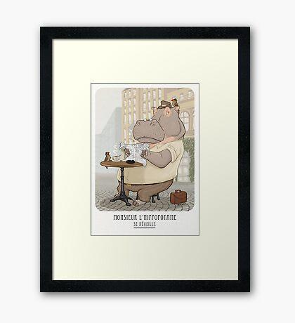 Mr. L'Hippopotame Framed Print