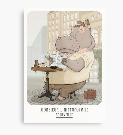 Mr. L'Hippopotame Metal Print