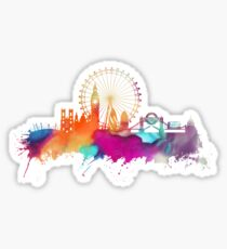 London skyline watercolor Sticker