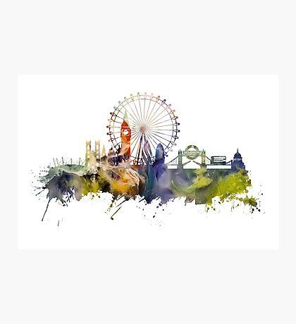 London skyline colored London Eye Photographic Print