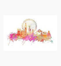 London skyline underground Photographic Print