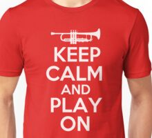 Keep Calm and Play On Trumpet Unisex T-Shirt