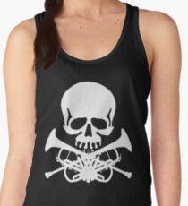 Skull with Trumpet Crossbones Women's Tank Top